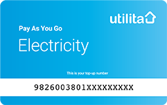 electricity card blue
