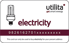 electricity card white